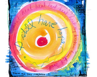 Painted Prayer No. 3 ...  art archival Spiritual print from original painting by Kathy Morton Stanion EBSQ