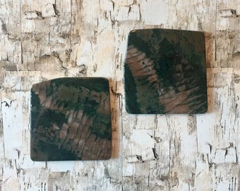 Natural Stone Coasters - Set of 2