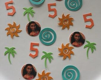 Moana birthday confetti