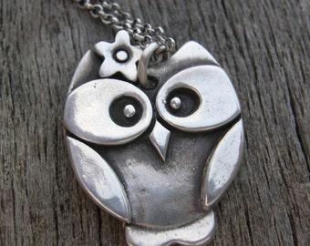 Fancy Nancy, Sterling Silver Owl Pendant