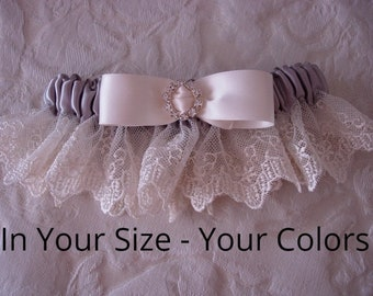 Vintage Garter, Lace Garter, Satin Garter, Bridal Garter, Rhinestone Garter, Bride Gift, Bridal Shower Gifts, Wedding. EMBROIDERY ADDITIONAL