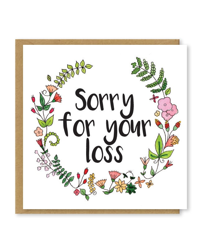Sorry for your loss sympathy card floral bereavement zoom altavistaventures Images