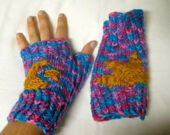 Cosmic Colors Fingerless Gloves