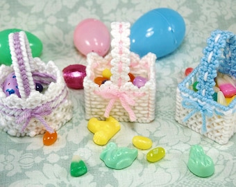 PATTERN: Lacy Easter Baskets in Plastic Canvas