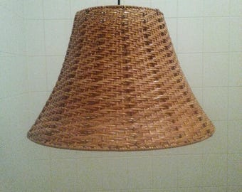 Vintage rattan pendant light