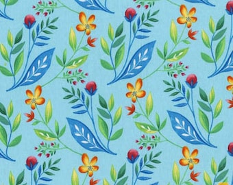 Frolic - Floral Sky Blue by Tamara Kate from Michael Miller