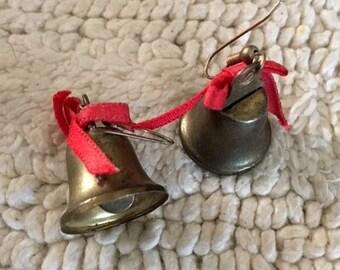 Earrings Brass Bells hooks
