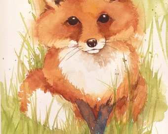 Little Red Fox giclee