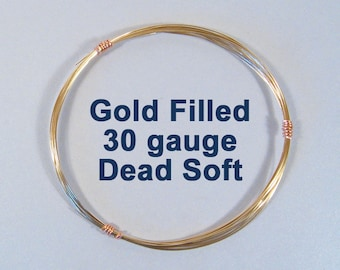 30ga DS Gold Filled Wire - Dead Soft - Choose Your Length