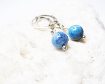 Kyanite Earrings Blue Kyanite Earrings Gemstone Earrings Dangle Earings Charm Earrings Blue Kyanite Jewelry Kyanite Charm Healing Jewelry
