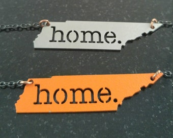 """Tennessee """"Home"""" Necklace"""