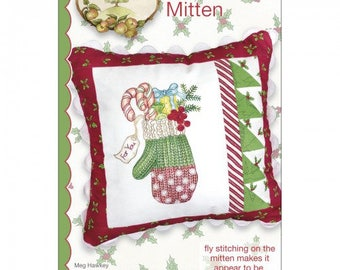 Polka Dot Mitten Embroidery Pattern