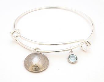 50th Birthday Charm Bracelet, 1968 Birthday Gift, 1968 Jewelry Gift, 50th Birthday Gift, 50th Birthday Ideas, 50th birthday gifts for women