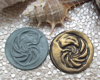 Nautilus Shell Polymer Clay Stamp