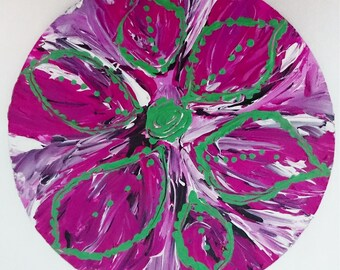 Rose: Acrylic painting, Wall art, Home Decor von Manaldernaykaart.