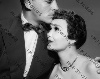 "Jane Wyman & Bing Crosby Vintage Retro Photo Wall Art Print of Hollywood Movie Stars size A4 (11.7"" x 8.3"")"