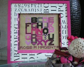 "Chalkboard ""with magenta rose petal"""