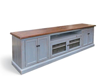 Media Console, TV Stand, Reclaimed Wood, Entertainment Console, Console Cabinet, Handmade, Rustic