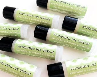 Pistachio Ice Cream Lip Balm - Moisturizing Avocado and Jojoba Oil Lip Balm