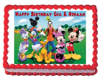 Mickey Mouse Clubhouse edible cake image cake topper frosting sheet