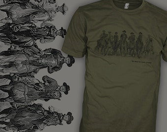 Magnificent Seven Movie T Shirt - Magnificent Seven Poster T Shirt - Wild West Shirt