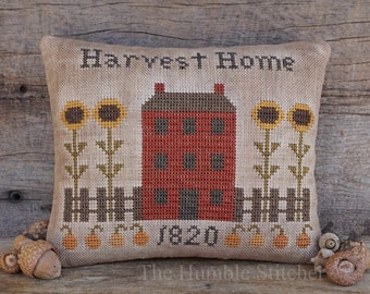 Harvest Home...Primitive PAPER Cross Stitch Pattern By The Humble Stitcher