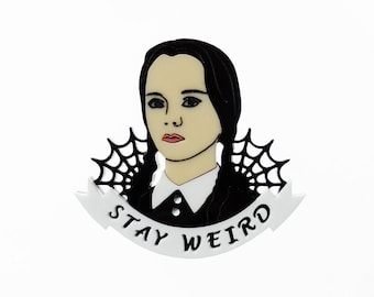 Wednesday Addams brooch