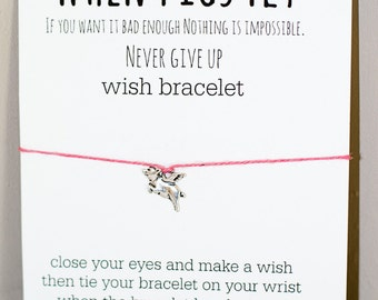 When Pigs Fly Wish Bracelet