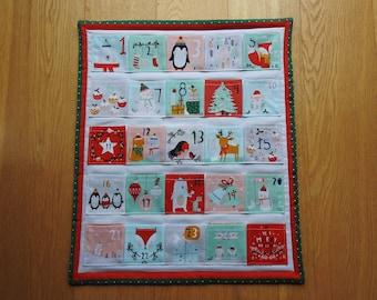 Christmas Advent Calendar. Christmas Countdown Calendar. Handmade