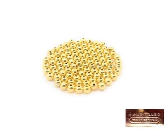 Gold Filled - 2,3,4,6,8 or 10mm Beads : 1 or 10