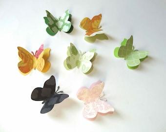 Large 3D Paper Butterfly Confetti, designer butterflies, 2 inch butterflies, garden party decor, bridal shower decor