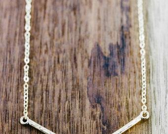Huali necklace - gold necklace, gold bar necklace, gold V necklace, gold chevron necklace, minimal jewerly, hawaii necklace, hawaii jewelry