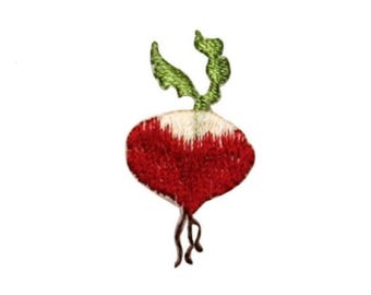 ID 1234B Fresh Radish Patch Farming Picking Veggie Embroidered Iron On Applique