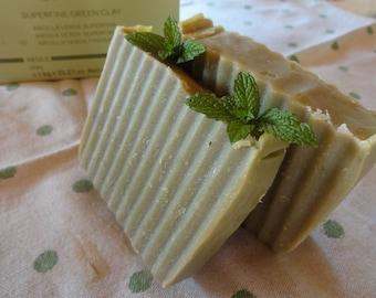 SOAP handmade clay/Mint