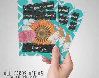 What Goes Up But Never Comes Down? - Rude/Funny/Sarcastic Birthday Card for old person
