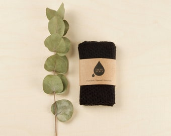 Clean Clean Dishcloth | Facecloth | Flannel in black