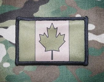 CANADA FLAG Multicam Military Morale Patch Army Tan OD Green JTF2 CadPat