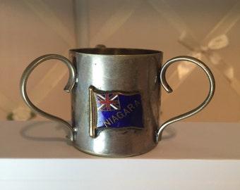 Niagra flag three handle toothpick holder ca 1930