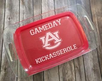 Auburn Gameday Kickasserole Engraved Pyrex Baking Dish