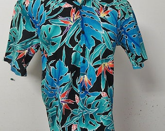 Hilo Hatti Mens Hawaiian  Tropical Retro Shirt  #112