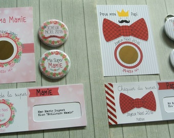 A set of 2 kits for the Grandpa and Grandma for Christmas or any other party