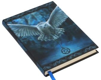 Embossed Journal Awaken your Magic , Owl Notebook, Game night, Notepad, Owl Book, Spell Book, Magic, Notebook, Journal