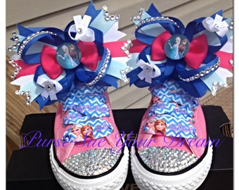 a507d41f9bb725 ... netherlands disney frozen crystal rhinestone custom converse shoes  infant toddler youth adult frozen birthday elsa anna ...