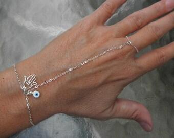 Alyse hamsa slave bracelet