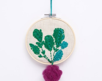 Embroidery radish