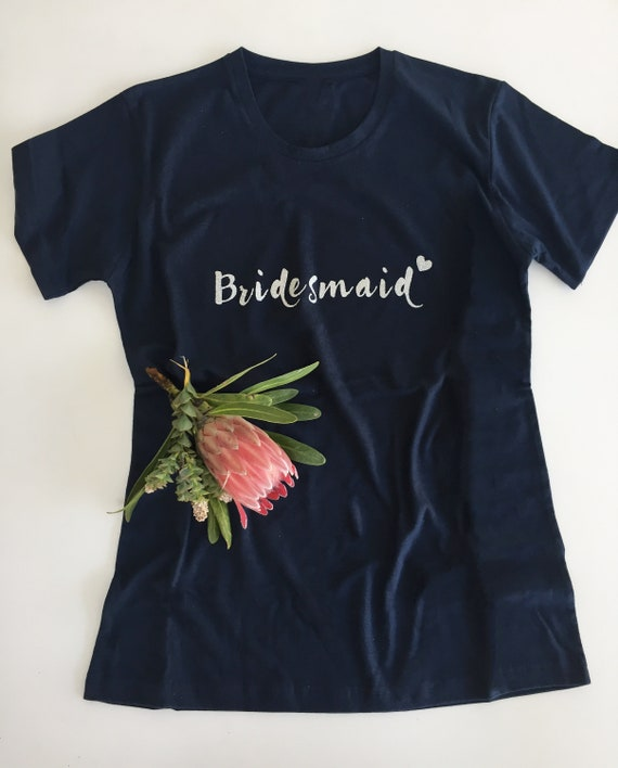 cc3dd0768246 Bridesmaid T-Shirt squad wedding bridal bride custom