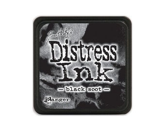Tim Holtz Mini Distress Ink Pad  BLACK SOOT