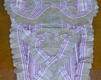 1770s Silk Stomacher, rococo Stomacher, rococo Dress, antique dress, antique gown