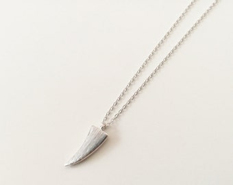 925 Sterling Silver Horn Necklace