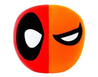 Deadpool / Deathstroke Mask Designer Plush Pillow